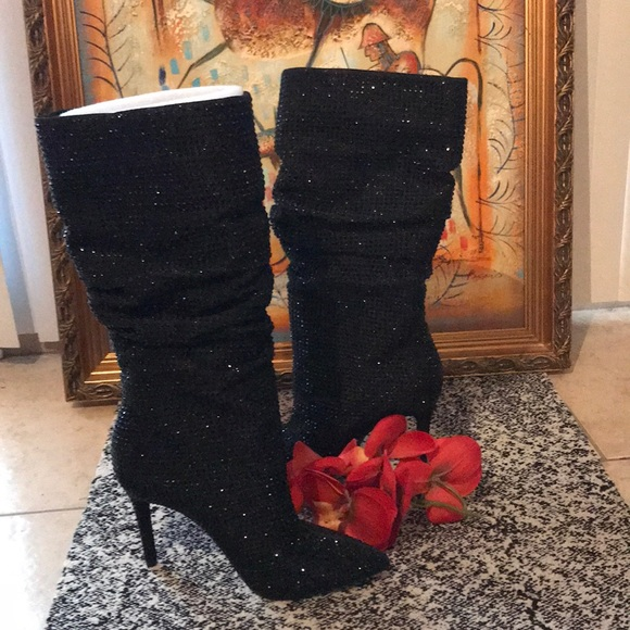 7fa61e94d9b NEW Jessica Simpson Layzer Rhinestone Slouch Boots